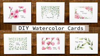 Watercolor Tutorial   DIY Spring Holiday Greeting Cards