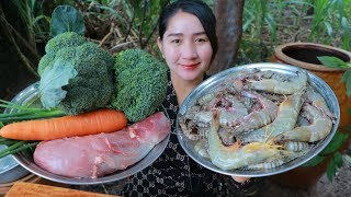 Tasty Shrimp Cooking Broccoli Recipe - Cooking With Sros