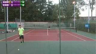 preview picture of video 'Christophe (15) vs Aurélien (4/6) - 5e tour Mesnil St Denis - 1er set - 19/09/2012'