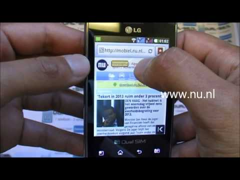 LG Optimus E405 Android Dual-sim GSM - UNBOXING