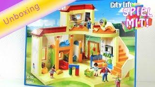 Playmobil Kita Sonnenschein Deutsch Unboxing - Playmobil Kindergarten Spielzeug
