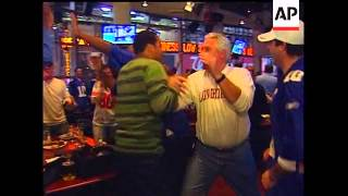 New York Giants fans crowded Manhattan bars and restaurants Sunday as their team pulled off one of t
