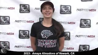 2023 Amaya Almadova Catcher Softball Skills Video - Extreme Fastpitch