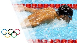 Michael Phelps wins 15th Gold - Men's 100m Butterfly | London 2012 Olympic Games - dooclip.me