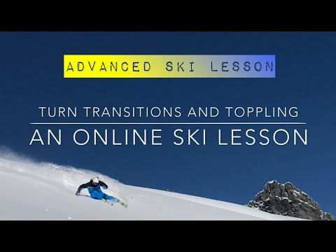 Fluid Skiing - turn transitions and toppling