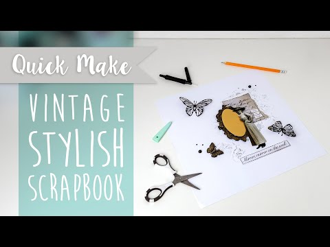 Vintage Stylish Scrapbook - Sizzix