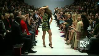 Trish Stratus walks the runway at Toronto Fashion Week