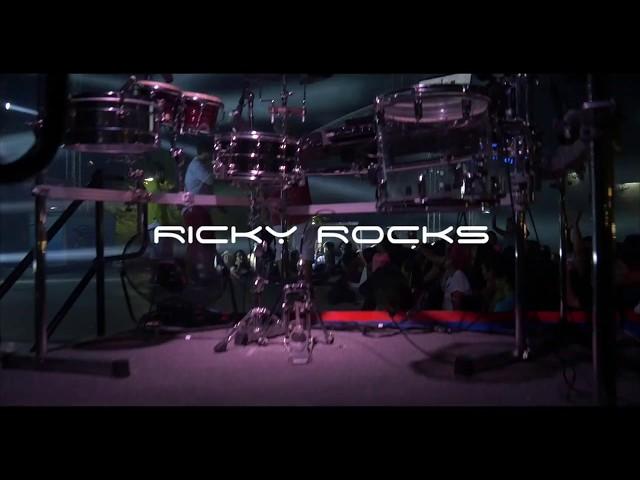 DJ RICKY ROCKS WITH CUSTOM DJ / DRUM SET UP (Los Angeles, CA)
