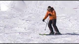 Смотреть онлайн Как правильно совершать укол палкой, горные лыжи