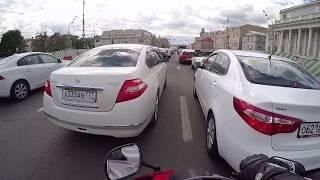 МОСКВА, дорога обратно HONDA cbr600rr, штраф 5000р за хорошую езду, часть2