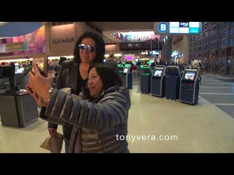 Gene simmons good with fans tony vera and tmz at LAX