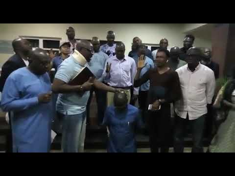 Watch Fayose pray for Eleka hours to election