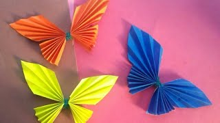Gambar cover Paper Butterfly Wall hanging | easy home/wall decoration ideas - diy - paper craft