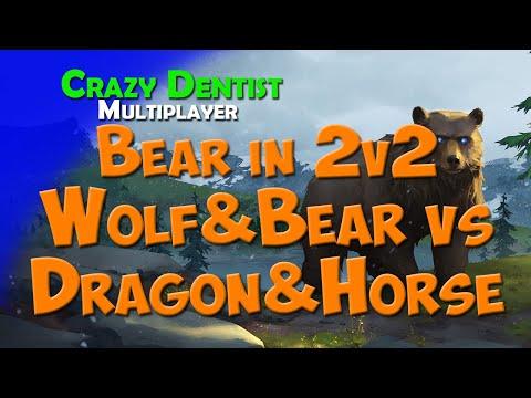 Northgard Bear clan in 2v2 | Wolf&Bear vs Dragon&Horse