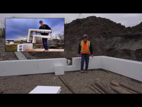 Building your ICF home - Starting to place Block