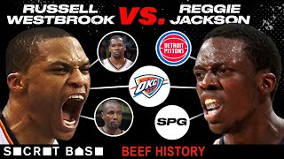 Russell Westbrook and Reggie Jackson beefed because there can only be one starting point guard thumbnail
