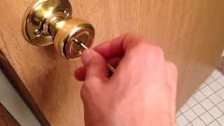 How to Unlock a Bedroom Door from the Outside