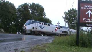 preview picture of video 'Amtrak 695 - The Adirondack - Brossard Quebec'
