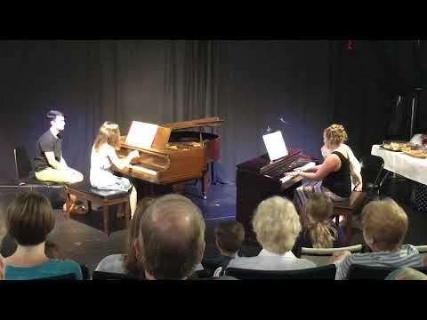 Performing Bohemian Rhapsody with piano student Angela Serrao