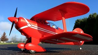 E-flite Pitts S-1S RC Biplane Second Flight On 3S Scorpion 1800 Lipo