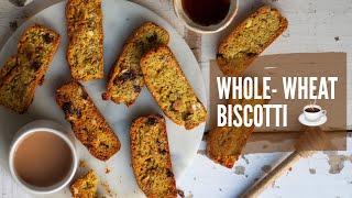 Whole-wheat Biscotti Recipe   Healthy Baking Recipes  Cake Rusk Almond Biscotti  Refined Sugar Free