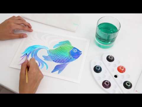 Youtube Video for Aquarellum Dolphins - Magic Painting Kit