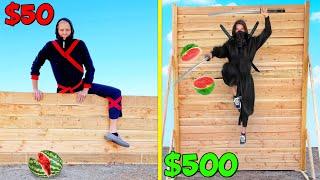 $50 vs $500 Ninjas! *BUDGET CHALLENGE*