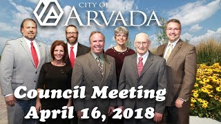 Preview image of Arvada City Council Meeting - April 16, 2018