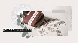 — Studio Vlog 002 | New Stickers And Free Printables
