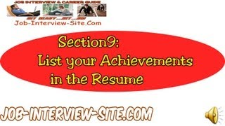 Resume Achievement Statements: Listing your Accomplishments on a Resume