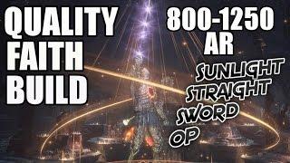 Dark Souls 3 Quality Faith Build - Sunlight Straight Sword OP
