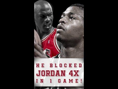 Michael Jordan shot blocked 4 times by Reggie Lewis in 1 game #shorts