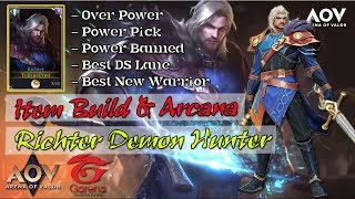 Gambar cover Tips Item Build & Arcana Richter AOV - Arena of Valor