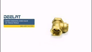 Copper Horizontal Check Valve - 3/4