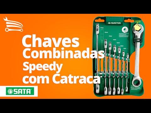 Jogo de Chaves Combinadas Speedy com Catraca - 8 Peças - Video