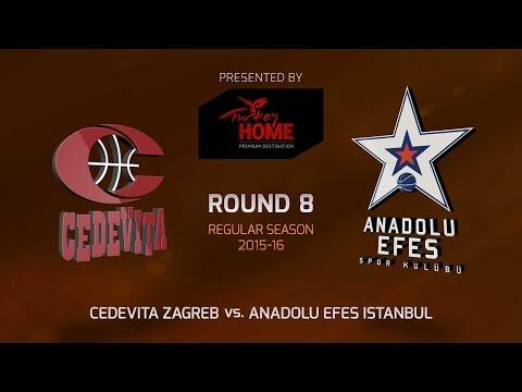 Highlights: RS Round 8, Cedevita Zagreb 75-81 Anadolu Efes Istanbul