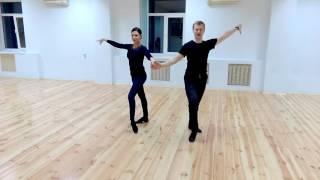 Смотреть онлайн Урок бального танца ча-ча-ча для начинающих