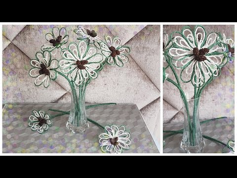 How to Make Jute Flowers Decor Craft