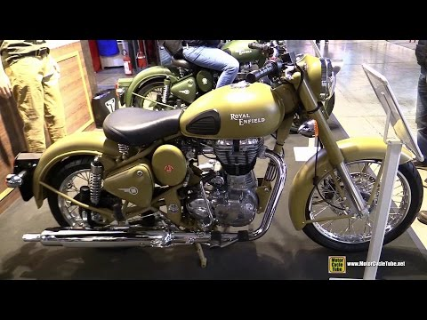 2015 Royal Enfield Classic 500 Desert Storm - Walkaround - 2014 EICMA Milan Motorcycle Exhibition