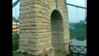 British Hanging Bridge in Punalur  Kerala  India - Musical Video ~~