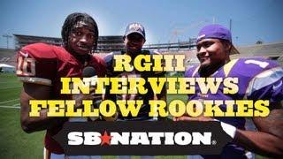 Robert Griffin III, Trent Richardson, David Wilson Interview Fellow NFL Rookies thumbnail