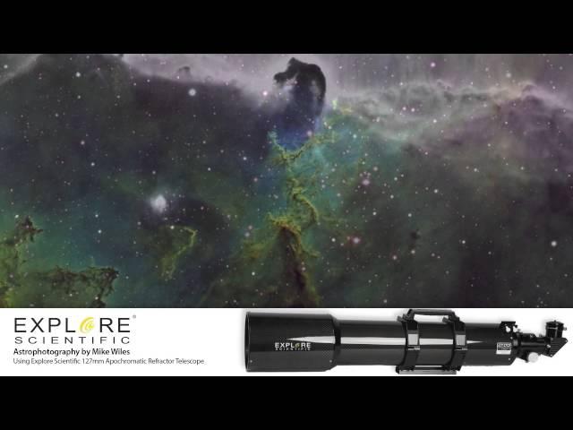 Explore Scientific 127 mm Triplet ED APO Carbon Fiber Refractor  - EDT-127075-CF-01 - Silver Grade Refurb