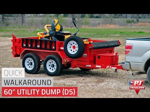 2021 PJ Trailers 60 in. Utility Dump (D5) 8 ft. in Kansas City, Kansas - Video 1
