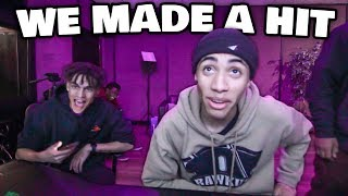 TAKING A SUBSCRIBER TO THE STUDIO AND MAKING A FULL SONG FROM SCRATCH!!! (MOXAS RAPS OVER MY BEAT)