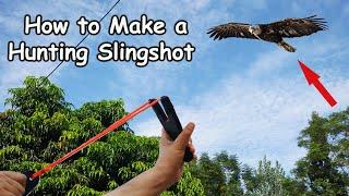 DIY Hunting Catapult Design Slingshot Gun | Gulel Primitive Technology