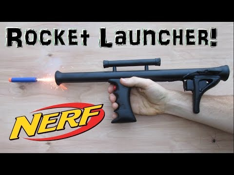 Mini Nerf Rocket Launcher!  (Homemade!) Experimental