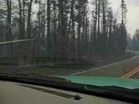 Kaibab Forest Wildfire Column, Morning drive thru