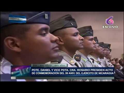 Daniel y Rosario presiden acto del 39 aniversario de constitución del Ejército de Nicaragua