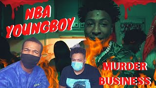 YoungBoy is AGGRESSIVE!! NBA YoungBoy - Murder Business (REACTION!)