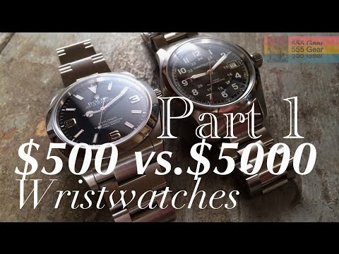 $500 Watch Vs. $5000 Watch Part 1 | What's The Difference? Hamilton Khaki & Rolex Explorer Mp3